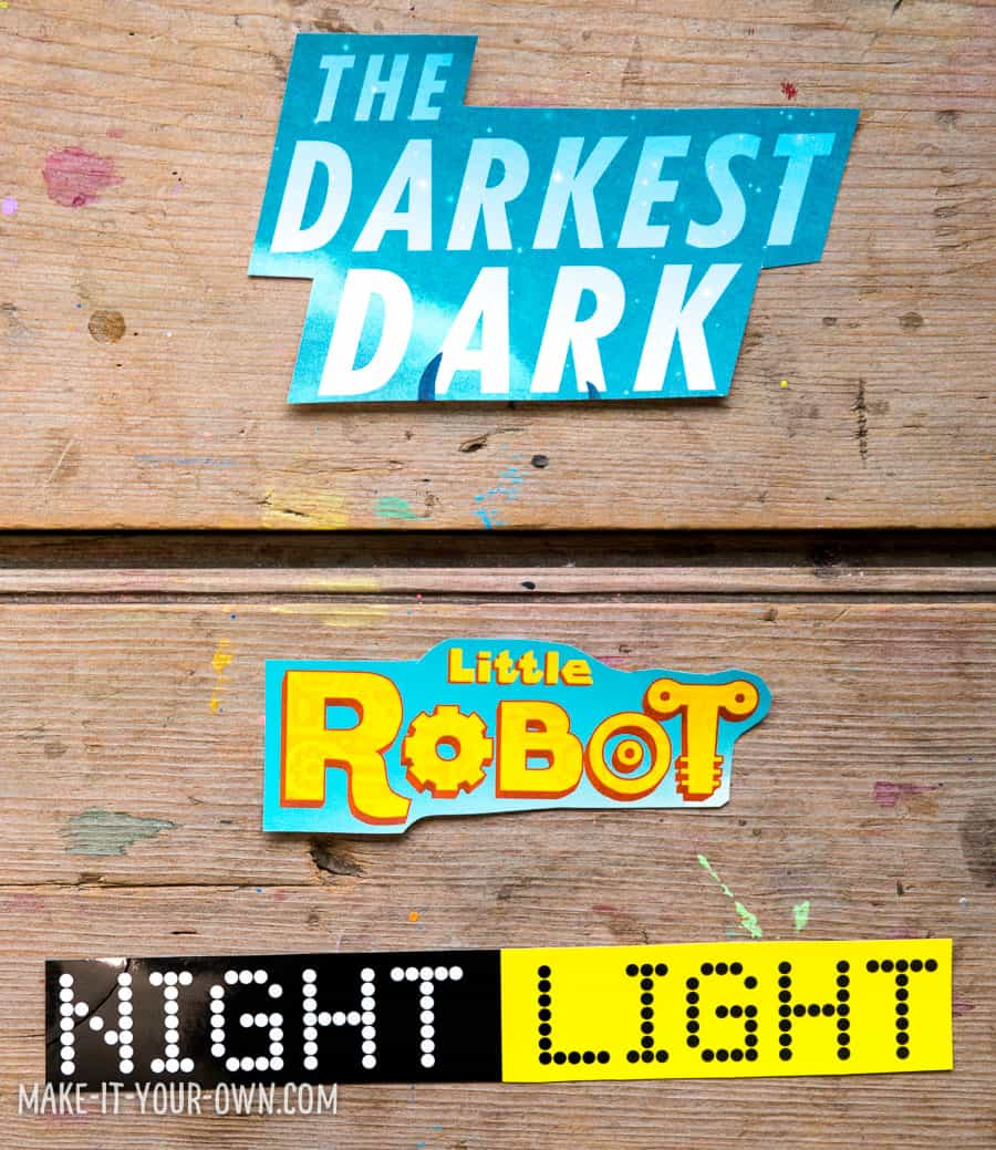 7 Creative Ideas for Book Jackets: Art Projects, Crafts for Kids, Educational Prompts, and More! *Love these ideas for upcycling old children's book covers. This typography ideas is awesome.