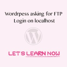 Wordpress asking for FTP credentials on localhost featured image