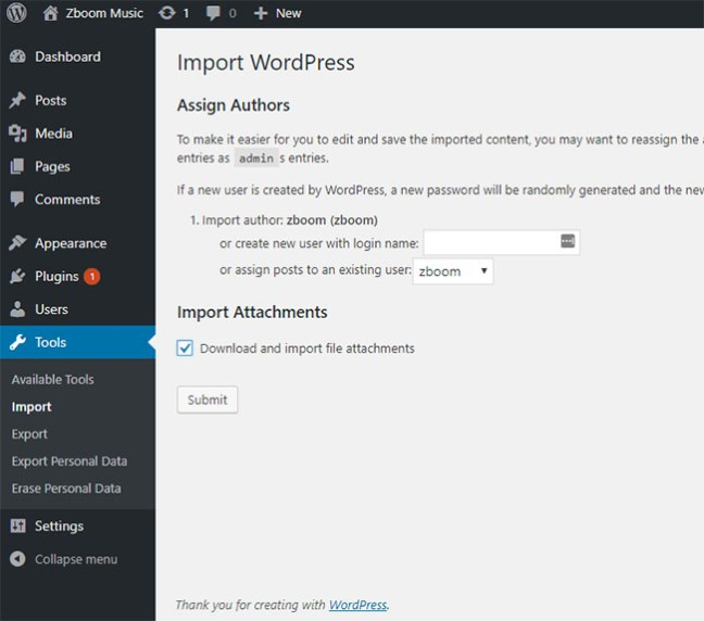 How to use WordPress Importer - WordPress Plugin 8
