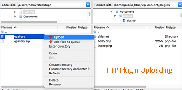 How to install plugin by FTP Uploading
