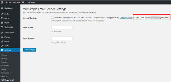 How to Change Sender Name in Outgoing WordPress Email (2)