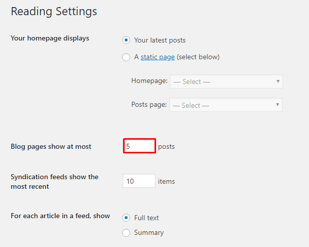 How to Change the Number of Posts Displayed On Your WordPress (2)