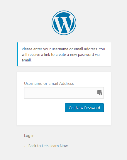 How to Recover WordPress Password for Beginners (2)