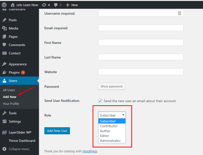WordPress User Roles and Permissions