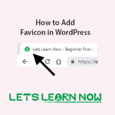 how to add favicon in WordPress