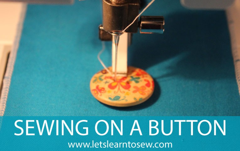 how to sew on a button using a sewing machine