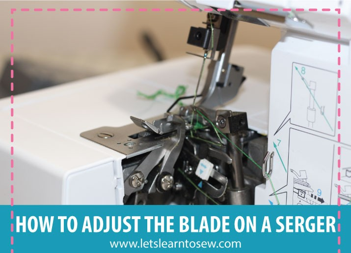 How To Adjust The Knife or Blade On A Serger and How To Disengage the Knife