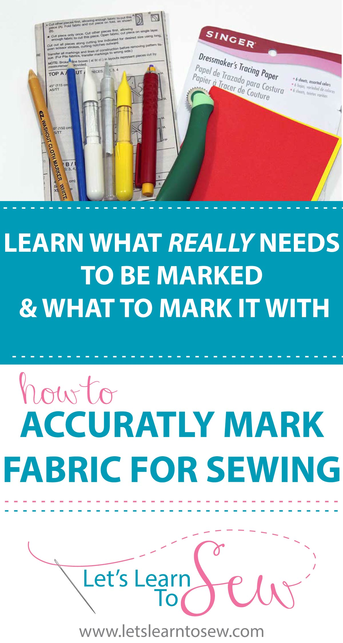 Have you ever wondered if you really need to mark your fabric or what you should use to mark it? In our new blog post, I'll share what you really need to mark, show you how to mark it and what to use to make those markings.