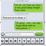 Goodnight texts and sms popularity