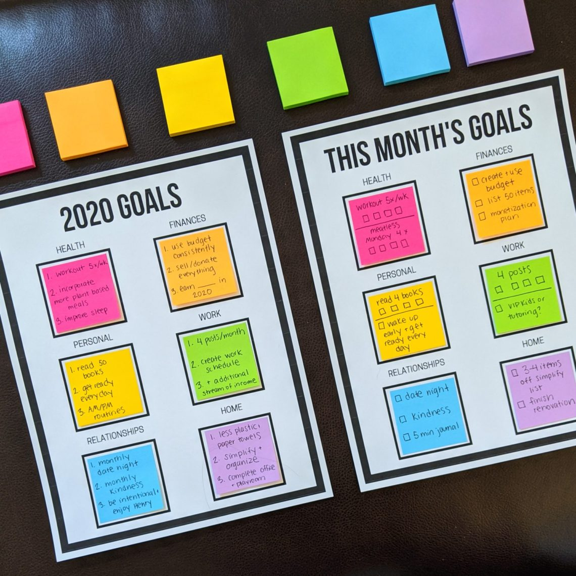 New Year S Goals Printables Let S Live And Learn