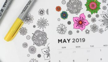 Printable January 2019 Calendar Coloring Pages Let S Mingle Blog