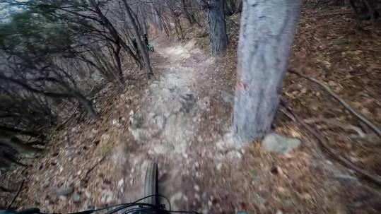 il ripido trail di base nato nel tratto centrale