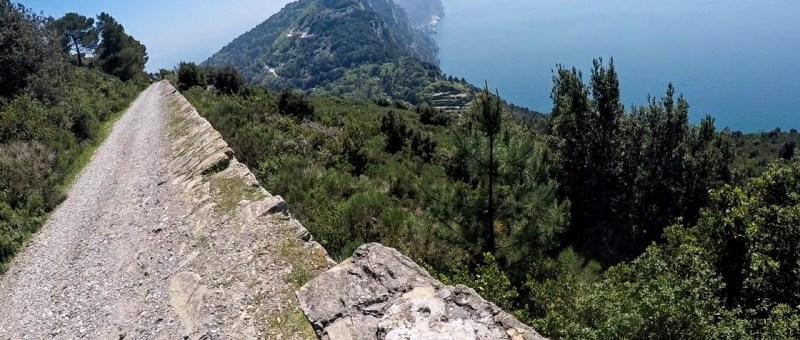 Alta via delle 5 Terre in mtb, trail in Liguria
