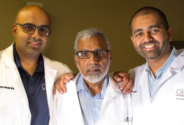 Dr.s Suleman (left), Munawar (center) and Waqas (right) Hussain.