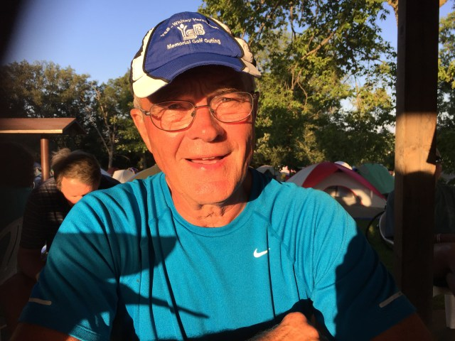 Bob Blew is a retired dentist who lives in Rock Island and is riding with the Quad Cities Bicycle Club this summer. His favorite parts of RAGBRAI experiencing an outdoor adventure with friends—one that he says cannot be duplicated anywhere else.