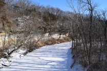 Flint Creek wraps through Starrs Cave park.