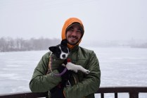 It was cold and snowy the day of our trip to Sylvan Island, but worth it!