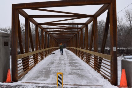The new pedestrian bridge at Sylvan Island is quite nice.