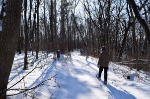 Snowshoeing at Loud Thunder is a quiet and beautiful outing.