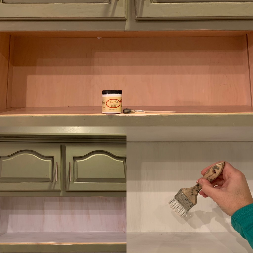 How To Paint Inside Kitchen Cabinets Let S Paint Furniture