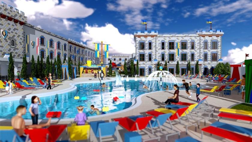 LEGOLAND CASTLE HOTEL COURTYARD-POOL