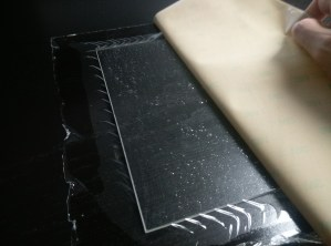 3M Adhesive on Glass Plate
