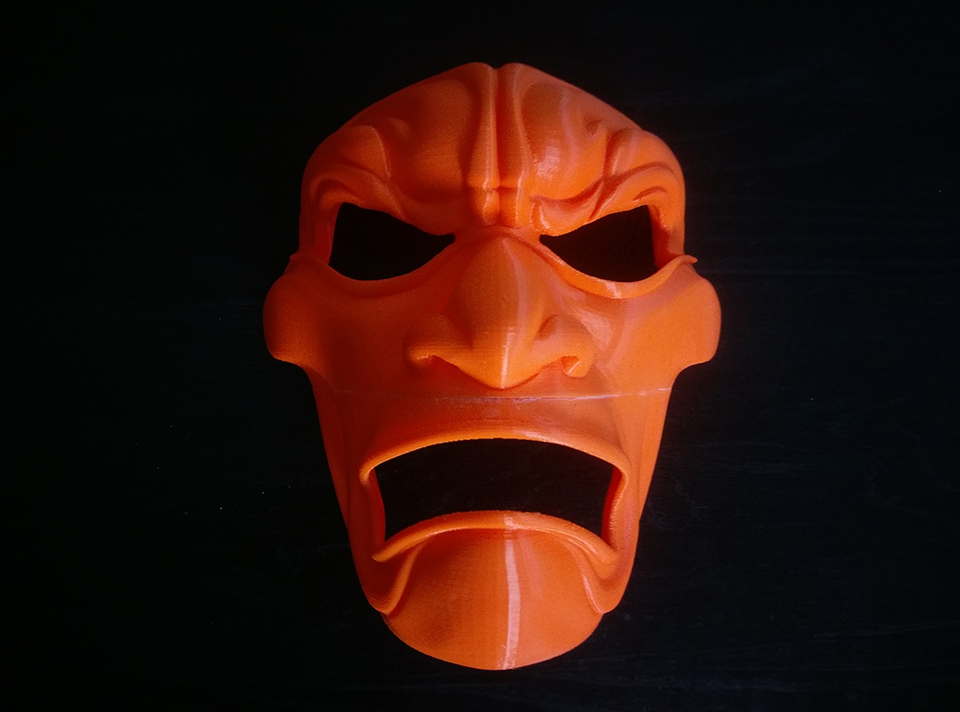 3D Printed Mask Glued