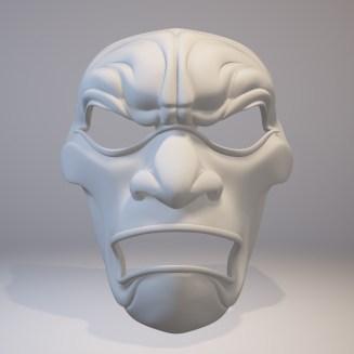 3D Printed Mask Render Front