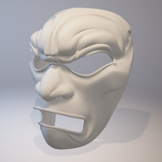 3D Printed Mask Render Side