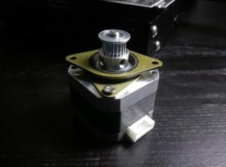Stepper Motor Dampers Pulley Installed