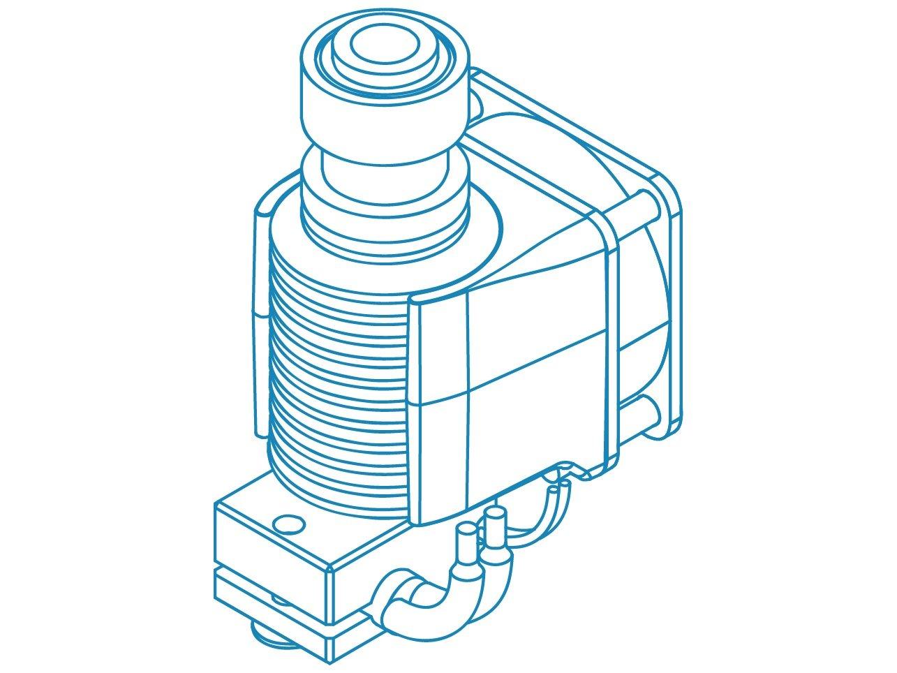 12V, Bowden High Performance 3D Printing 3mm Genuine E3D V6 HotEnd Kit for 3D Printer