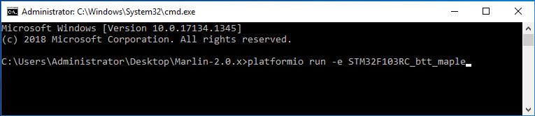 PlatformIO Command Line