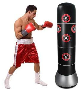 Inflatable punching bag for MMA target training