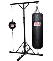 Title heavy bag and speed bag stand