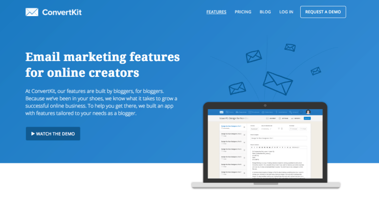 If you want a more professional email marketing service, you might want to check out ConvertKit.