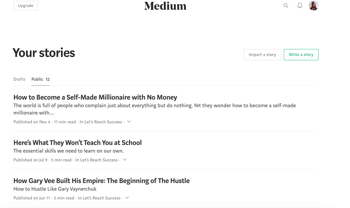 syndicating content on medium.com