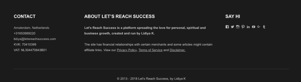 footer letsreachsuccess.com