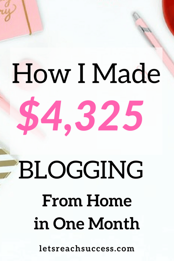 In my monthly income report for April 2018, I share how I earned over $4,000 from my blog and business. Check out the numbers, lessons and new projects that lead to being able to work from home and be a full-time blogger. #incomereport #blogincome #fulltimeblogger