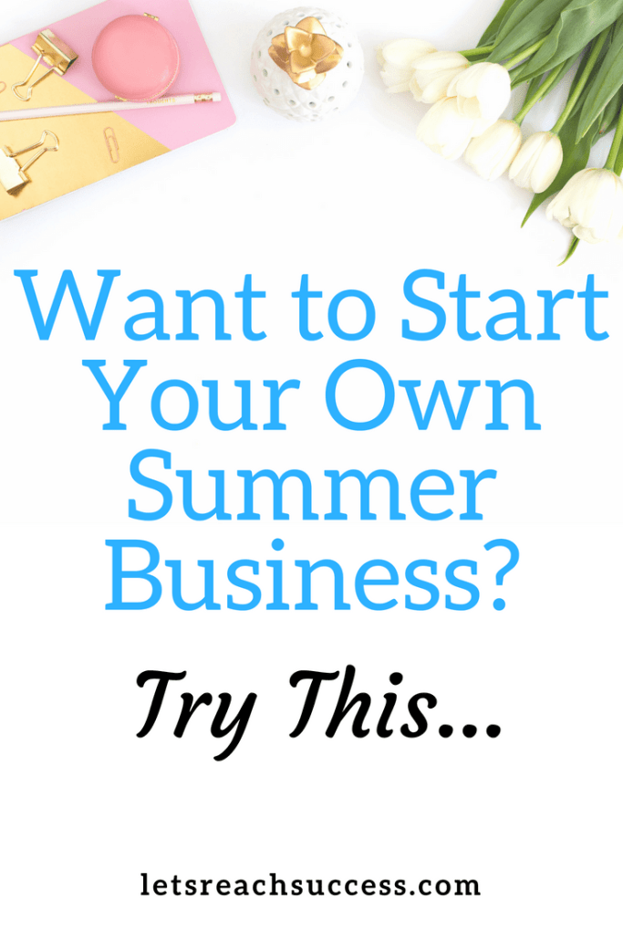 There are many business ideas to consider if you want to start your own summer business. Here's one: #summerbusiness #businessideas
