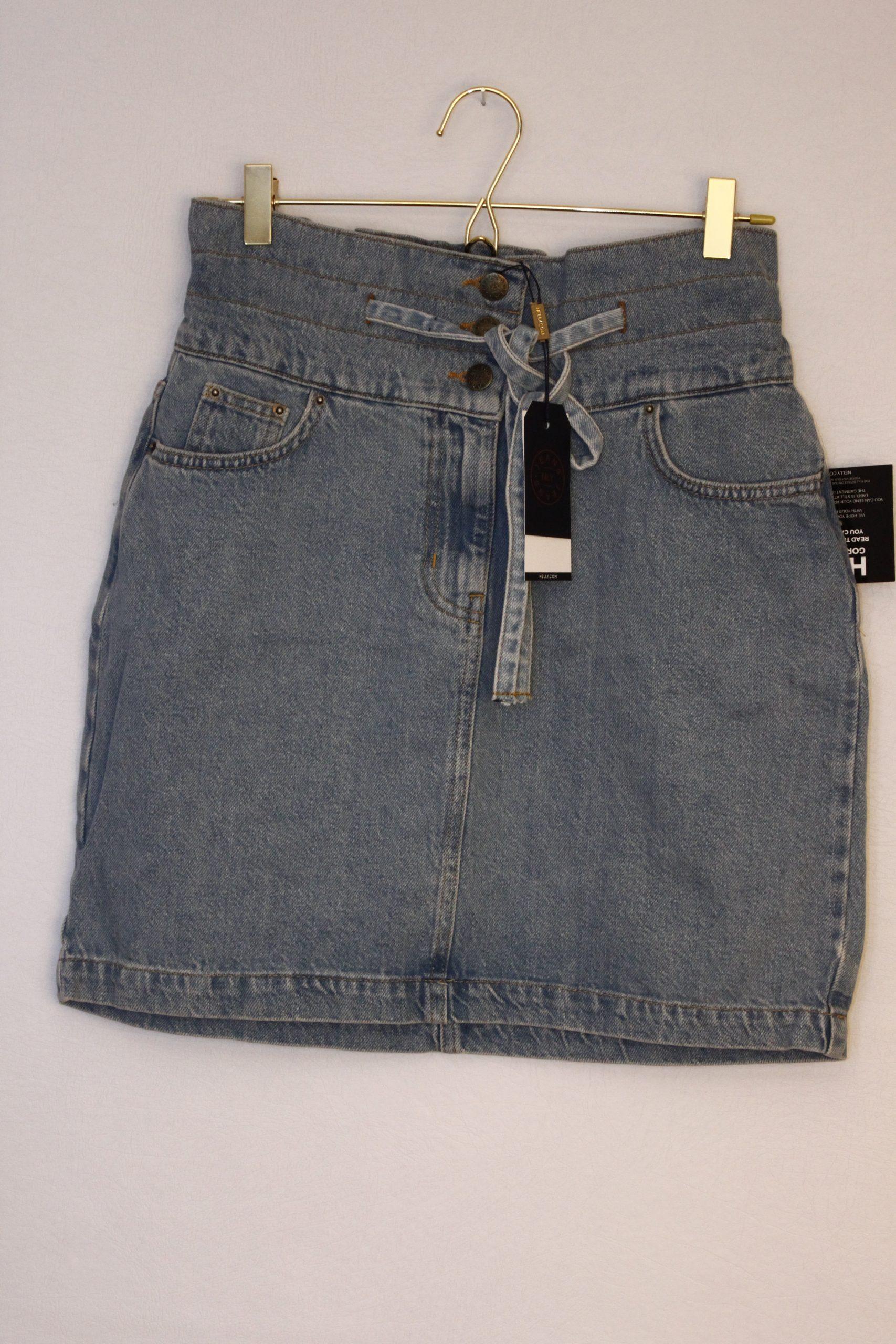 NLY Trend Tie Waist Denim Skirt