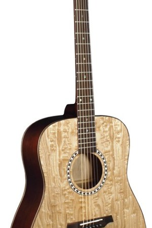 Morgan Monroe® Quilt Figured Ash Top Acoustic Guitar
