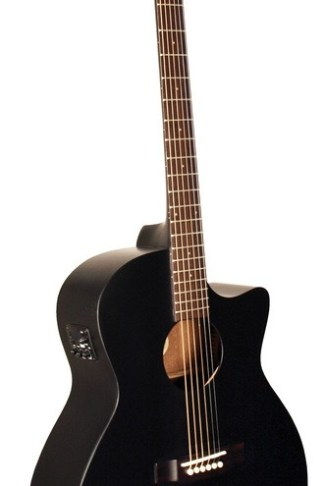 Morgan Monroe® Artist Electric/Acoustic Guitar, Black