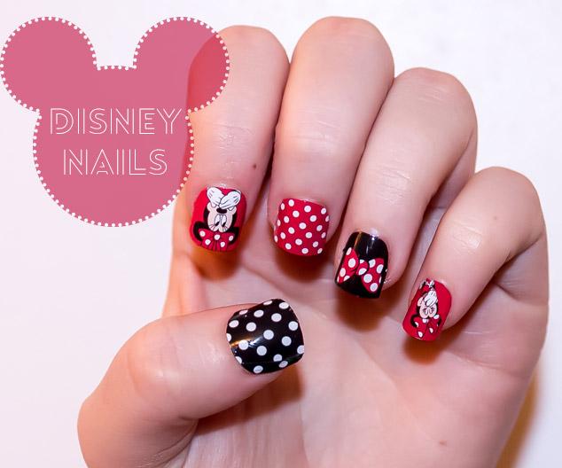 nail art design- disney minnie
