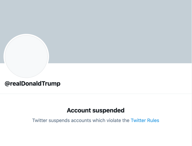 Donald Trump Banned
