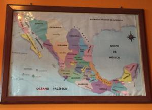 Acapulco's colorful map