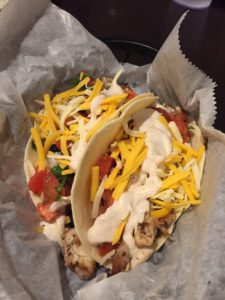 Chicken Tacos at Sun Dawg Cafe