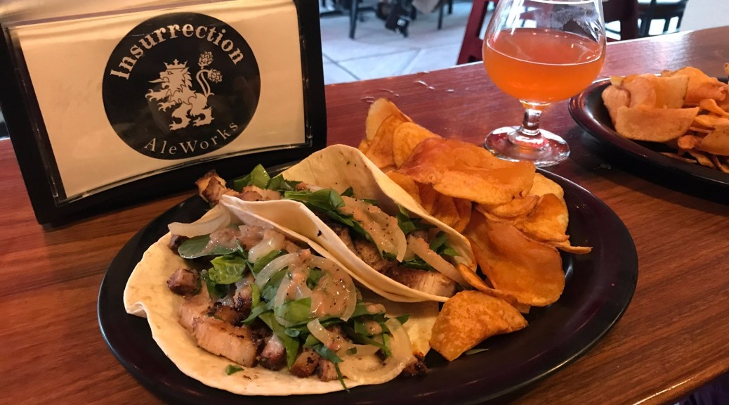 Tacos at Insurrection AleWorks