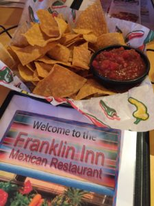 chips and salsa and menu