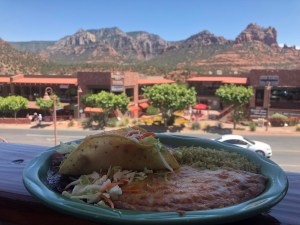 taco with mountains