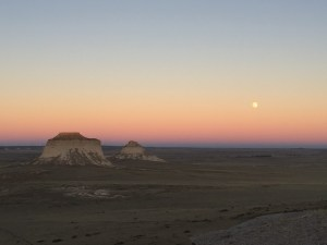 sunset and buttes